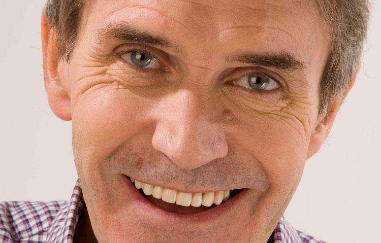 Close up of mature man smiling